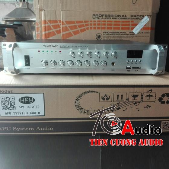 Amply APU 150W công suất 150W điều khiển âm lượng 6zone